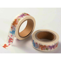 Ruban Masking Tape Chats Multicolores 15mm x 10m