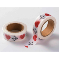 Ruban Masking Tape Coeur et Arc 15mm x 10m