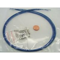KIT FIL CABLE + fermoirs 1mm Bleu par 10 pièces