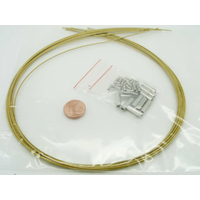 KIT FIL CABLE + fermoirs 1mm Jaune Miel par 10 pièces