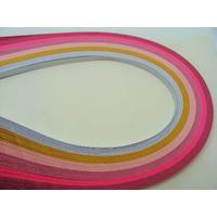 Lot bandes de papier pour Quilling 3mmx39cm 6 couleurs MIX14 par 120 pcs
