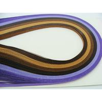 Lot bandes de papier pour Quilling 3mmx39cm 6 couleurs MIX15 par 120 pcs