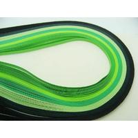 Lot bandes de papier pour Quilling 3mmx39cm 6 couleurs MIX16 par 120 pcs