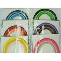 Super lot bandes de papier pour Quilling 3mmx39cm 6 couleurs MIX17 par 720 pcs