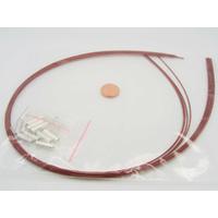 KIT FIL CABLE + fermoirs 1mm Rouge par 10 pièces