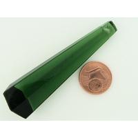 Pendentif verre PRISME 60mm VERT par 1 pc