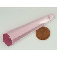 Pendentif verre PRISME 60mm ROSE par 1 pc