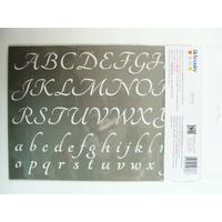 Pochoir Home Deco 2 Alphabets Lettres majuscules et minuscules Planche A4 Artemio