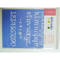 Pochoir Home Deco 1 Alphabet Lettres minuscules Chiffres et signes Planche 26cm Artemio