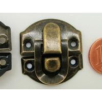 Fermoir Fermeture (2 pièces) petit rabat 27x28mm métal couleur Bronze par 4 pcs