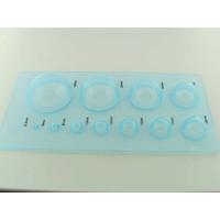 Plaque 12 dômes plastique bleu 2,5 à 40mm pour Quilling par 1 pc