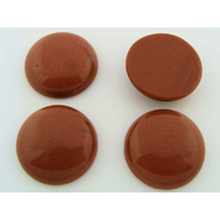 Cabochon PIERRE rond 26mm MARRON pailleté par 1 pc