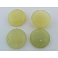 Cabochon PIERRE rond 26mm Jaune Vert par 1 pc