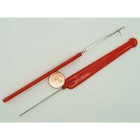Crochet refermable métal et plastique orange 14cm par 1 pc