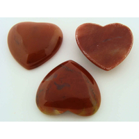 Cabochon PIERRE COEUR 27mm MARRON par 1 pc