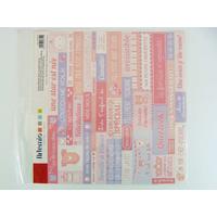 Stickers Baby Girl Naissance Bébé Fille texte feuille 30x30cm Artemio