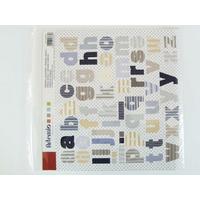 Stickers Alphabets Lettres motifs Rayures 30x30cm Artemio