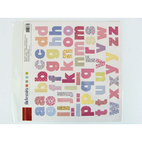 Stickers Alphabets Lettres Sweet 30x30cm Artemio