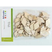 Découpes Losanges bois 2 à 4cm pour loisirs créatifs par 129 pcs