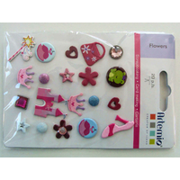 Brads Attaches Parisiennes métal Princesse Fille par 20 pcs Artemio MOD3