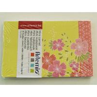 Mini carnet Fleurs Pastel Japon Artemio bloc 11x7cm de 30 feuilles
