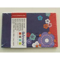 Mini carnet Fleurs foncées Japon Artemio bloc 11x7cm de 30 feuilles