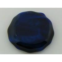 Cabochon VERRE fusing 40mm bleu noir cab-fusing-78 par 1 pc