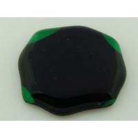 Cabochon VERRE fusing 37x34mm vert noir cab-fusing-79 par 1 pc