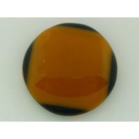 Cabochon VERRE fusing 28mm orange noir cab-fusing-85 par 1 pc