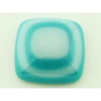 Cabochon VERRE fusing carré 26mm blanc bleu clair cab-fusing-99 par 1 pc