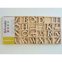 Alphabet Lettres A-Z majuscules 30mm en casier bois 130pcs