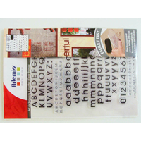 155 Tampons Clear stamps 4 alphabets lettres + 10 chiffres 18cm Artemio