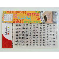 135 Tampons Clear stamps  alphabet lettres + 10 chiffres 18cm Artemio