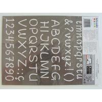 Pochoir Home Deco Alphabet Chiffres ponctuation  Lettres majuscules et minuscules Planche A4 Artemio