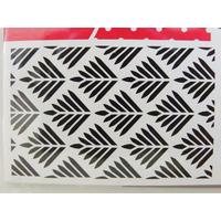 Pochoir Home Deco Motifs géométriques FEUILLAGE Planche 10x15cm Artemio