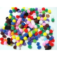 Pompons 12mm environ MIX couleurs par 200 pièces