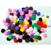 Pompons 22mm environ MIX couleurs par 100 pièces