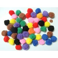 Pompons 26mm environ MIX couleurs par 50 pièces