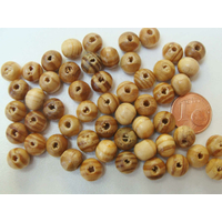 Perles Bois MARRON STRIE Rondes 8mm par 50pcs