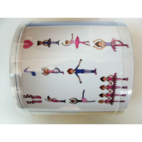 Kit Cours de Danse Danseuses Filles 11 tampons 5 crayons et 2 encreurs