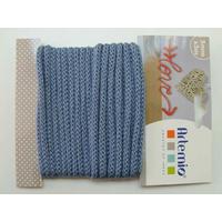 Tricotin fil tricoté 5mm cordon Bleu par 5 mètres Artemio
