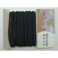 Tricotin fil tricoté 5mm cordon Noir par 5 mètres Artemio