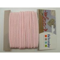 Tricotin fil tricoté 5mm cordon Rose Pastel par 5 mètres Artemio