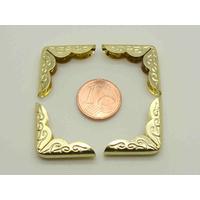 Angles coin 21mm métal couleur Doré Déco par 8 pcs