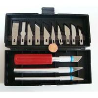 Boite 3 Scalpels + 10 lames outils découpe