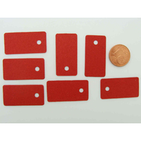 Étiquettes carton 30x15mm Rouges sans attache par 50 pcs