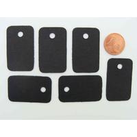 Étiquettes carton 33x20mm Noires sans attache par 50 pcs