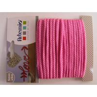 Tricotin fil tricoté 5mm cordon Rose Fuchsia par 5 mètres Artemio