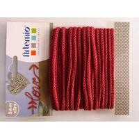 Tricotin fil tricoté 5mm cordon Rouge Foncé par 5 mètres Artemio