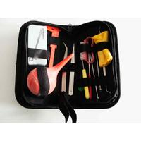 Trousse 15 outils pour finition montage nettoyage perles et bijoux avec brucelles poinçon lime chiffon brosse crochet